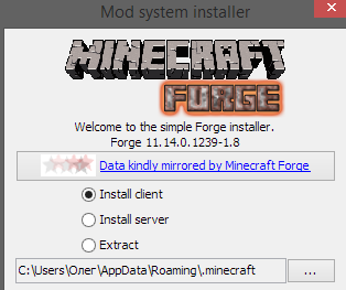 Minecraft Forge for Minecraft 1.8