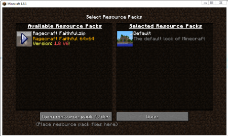Select Resource Packs