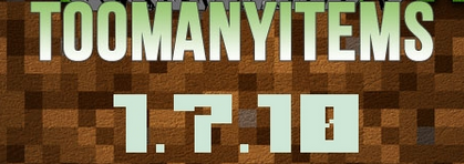 TooManyItems for Minecraft 1.7.10