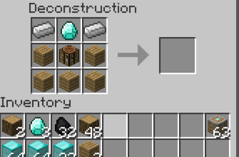 Deconstruction Table for Minecraft 1.7.2