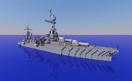 USS Northampton CA-26 for Minecraft