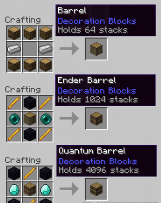 The Barrels for Minecraft 1.7.9