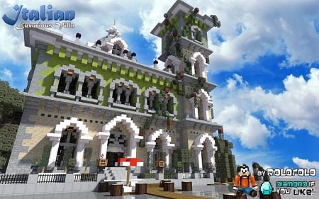Map Italian villa for Minecraft