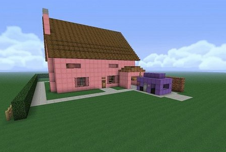 Map Simpsons House for Minecraft