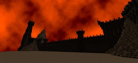 Map Black Gates of Mordor for Minecraft