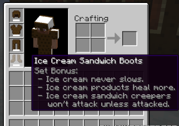The Ice Cream Sandwich Creeper Mod for Minecraft 1.7.2